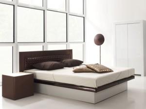 Profine waterbed: Allure Hoofdbord: Basic plus Nachttafel: Kwadrant met licht lade en glas