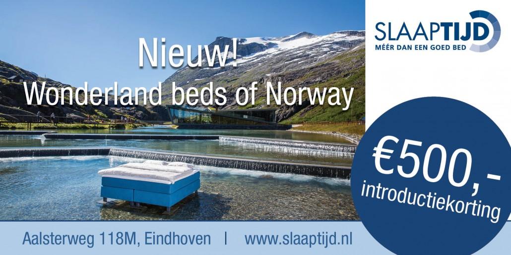 wonderland beds of norway aanbieding korting introductie slaaptijd eindhoven
